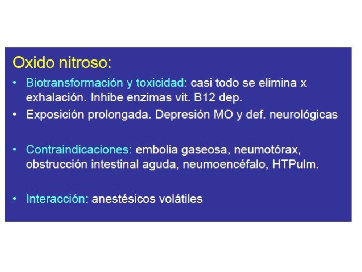 Metabolismo.• Eliminación por vía respiratoria ( mas del 95%)• Mínima fracción (menos del 5%) es metabolizada por el  cito...