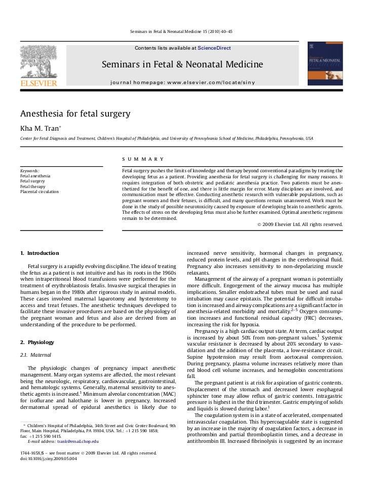 Seminars in Fetal & Neonatal Medicine 15 (2010) 40–45                                                              Content...