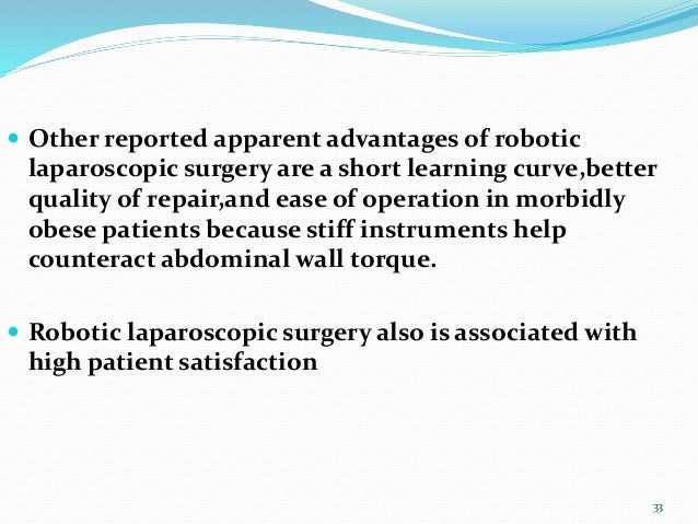Anesthesia For Robotic Surgery