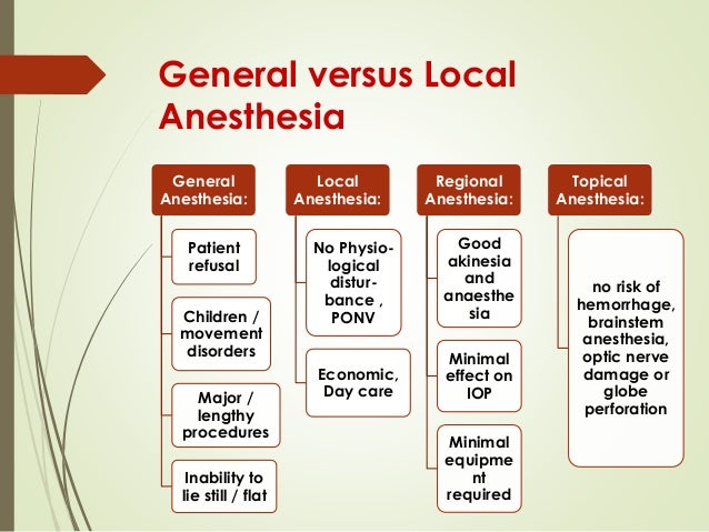 general anesthesia General anesthesia — overview covers risks, results of this procedure to put you to sleep.