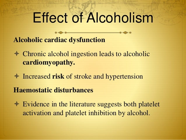 effect of alcoholism