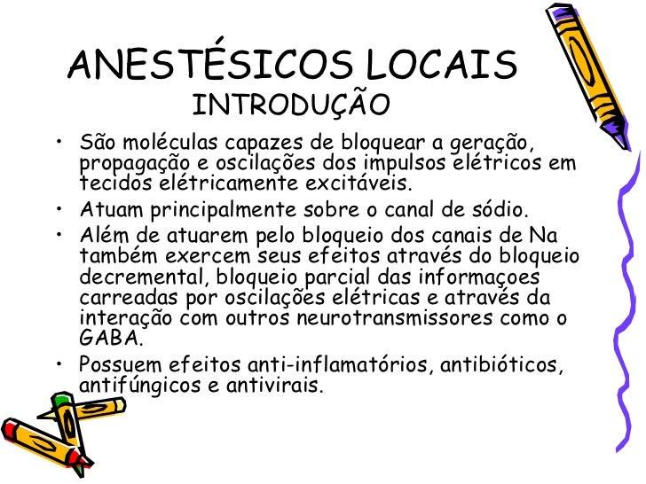 AnestéSicos Locais Slide 2
