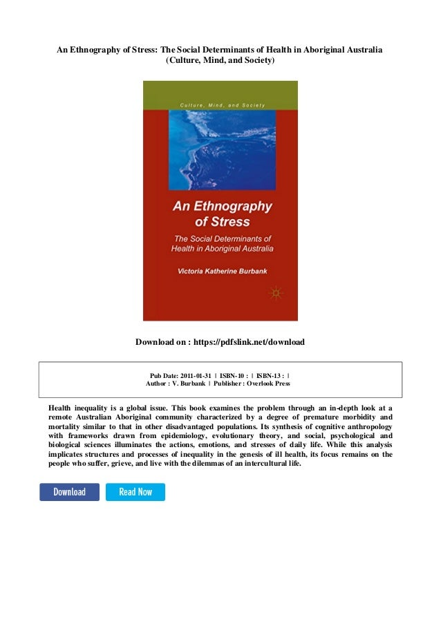 An Ethnography of Stress: The Social Determinants of Health in Aboriginal Australia