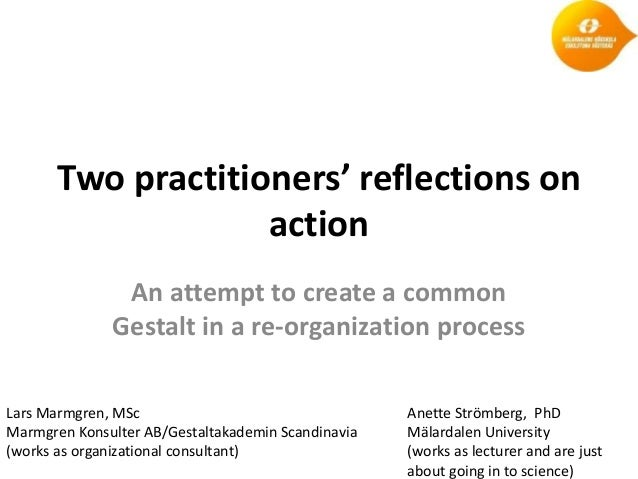 Two practitioners' reflections on                    action               An attempt to create a common              Gesta...