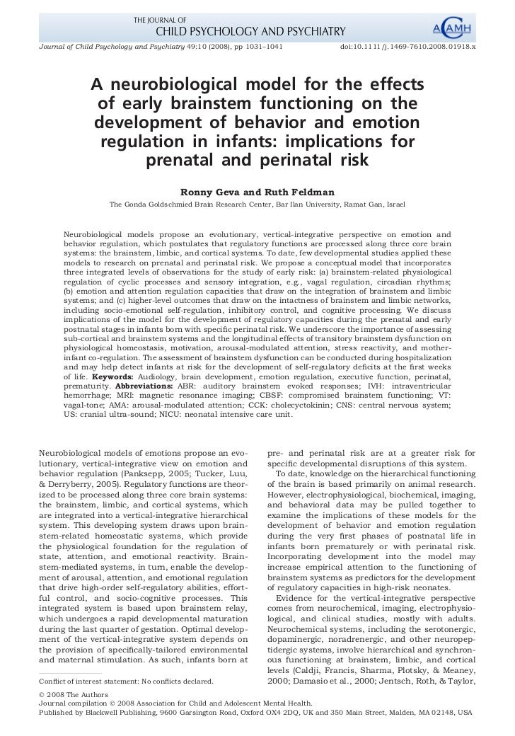 Journal of Child Psychology and Psychiatry 49:10 (2008), pp 1031–1041               doi:10.1111/j.1469-7610.2008.01918.x  ...