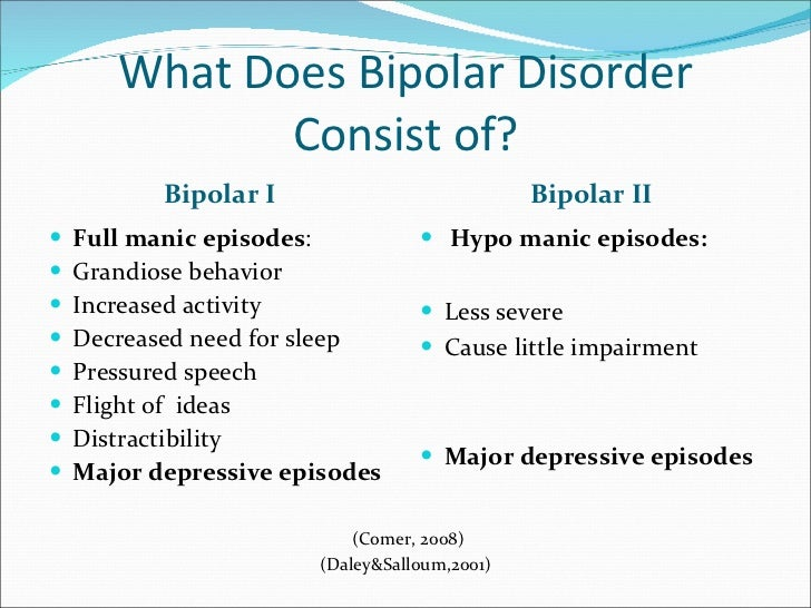 the characteristics types and causes of bipolar disorder Read about the signs and symptoms of bipolar disorder types of bipolar disorder include: bipolar i the symptoms of bipolar disorder will cause more extensive.
