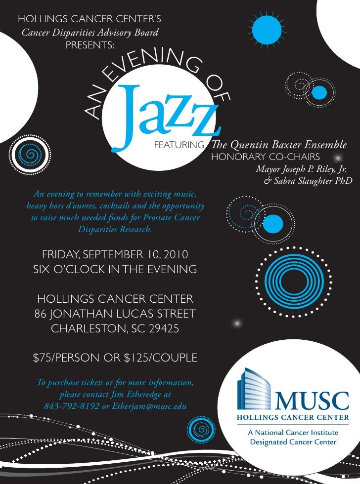 An evening of jazz invitation an evening of jazz invitation hollings cancer centers cancer disparities advisory board presents stopboris Image collections
