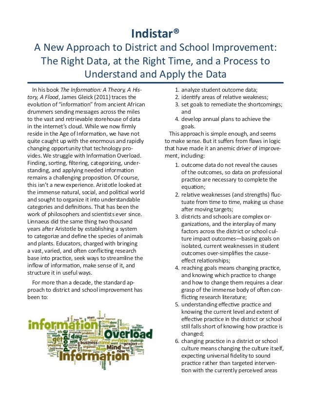 Indistar® A New Approach to District and School Improvement: The Right Data, at the Right Time, and a Process to Understan...