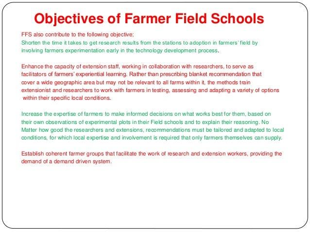 5. Characteristics of Farmer field Schools