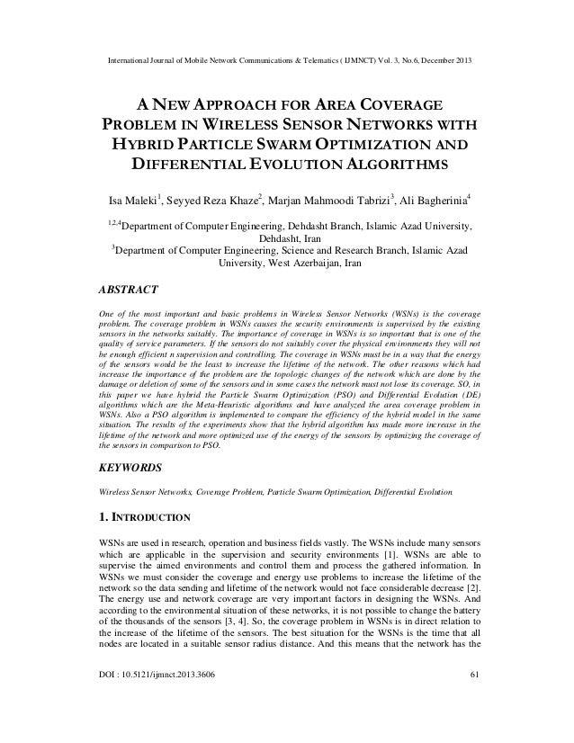 International Journal of Mobile Network Communications & Telematics ( IJMNCT) Vol. 3, No.6, December 2013  A NEW APPROACH ...