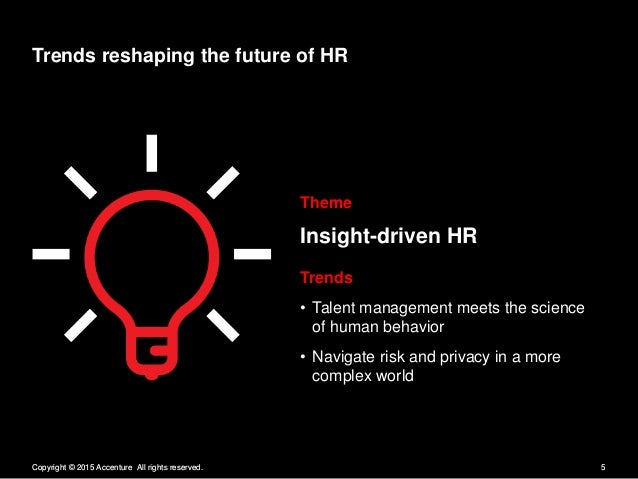 Trends reshaping the future of HR  Theme  Insight-driven HR  Z Z Trends - Talent management meets the science /   of human...