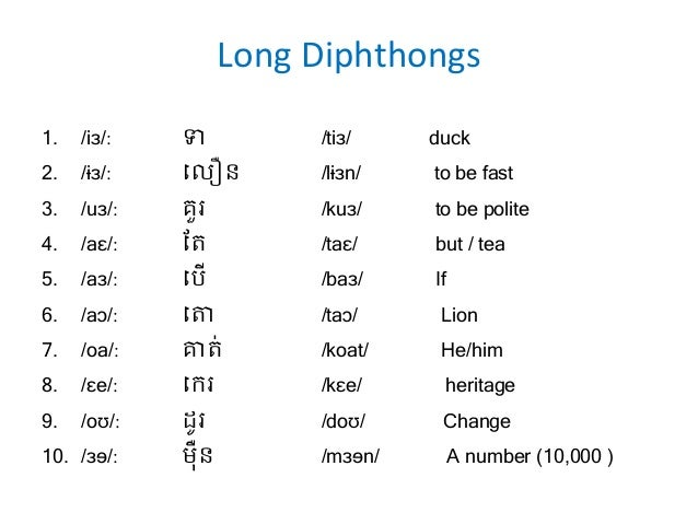 A New Dictionary Of Khmer Pronunciationfinal