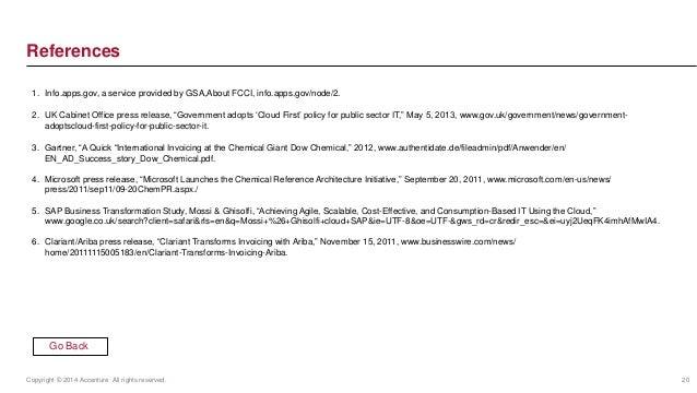 References  1. Info.apps.gov, a service provided by GSA,About FCCI, info.apps.gov/node/2.  2. UK Cabinet Office press rele...