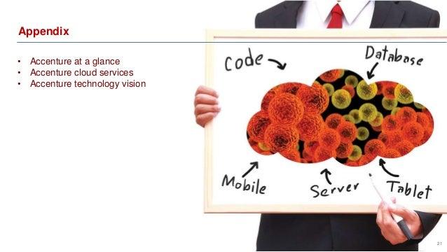 Appendix  21  • Accenture at a glance  • Accenture cloud services  • Accenture technology vision