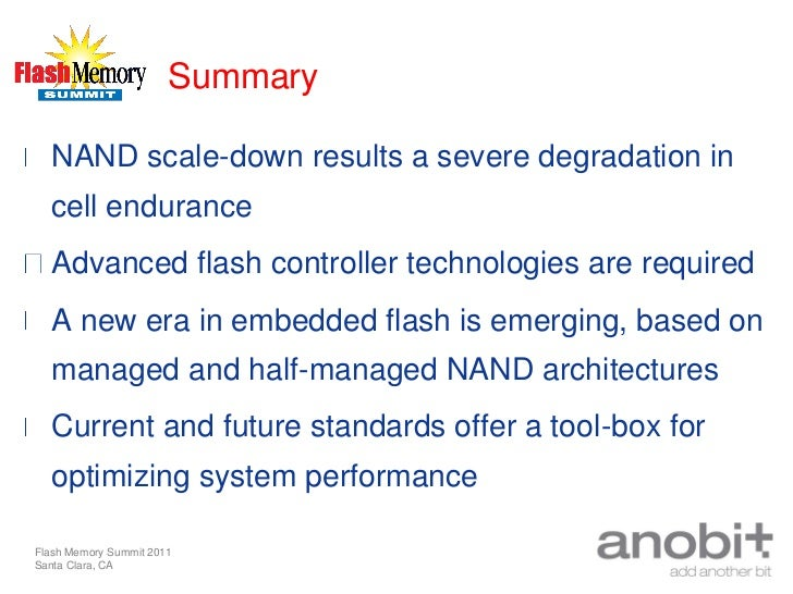 A new era in embedded flash memory, Anobit presentation fms 2011 -
