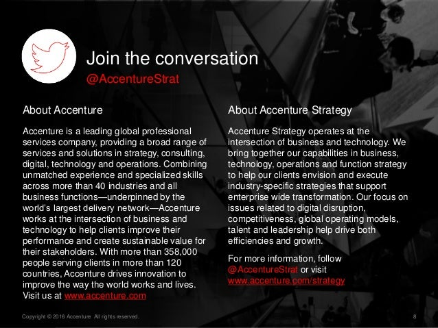 Join the conversation @AccentureStrat About Accenture Accenture is a leading global professional services company, providi...