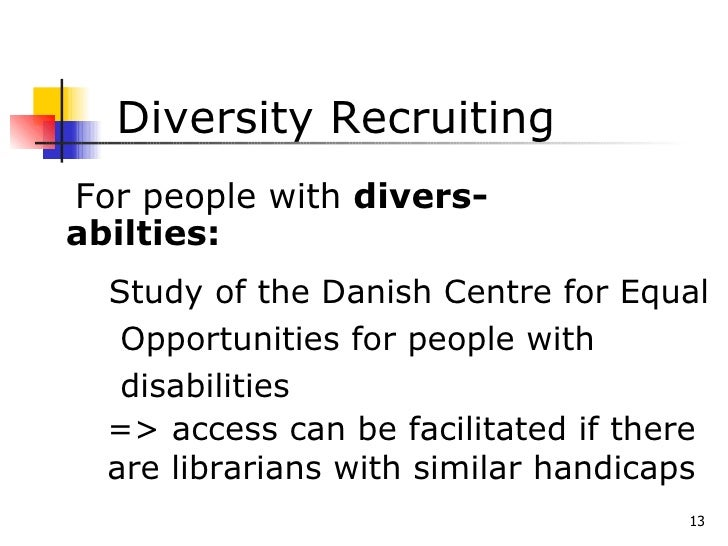 a new management culture of diversity  for a new image of libraries b u2026