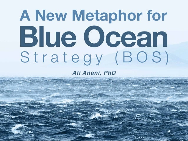 Ali Anani, PhD A New Metaphor for Blue Ocean S t r a t e g y ( B O S )