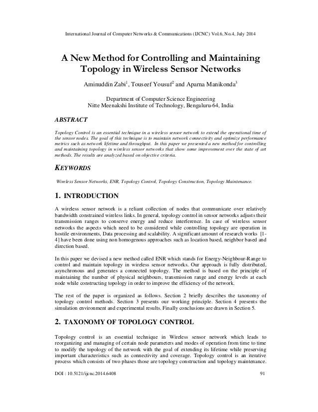 International Journal of Computer Networks & Communications (IJCNC) Vol.6, No.4, July 2014 DOI : 10.5121/ijcnc.2014.6408 9...