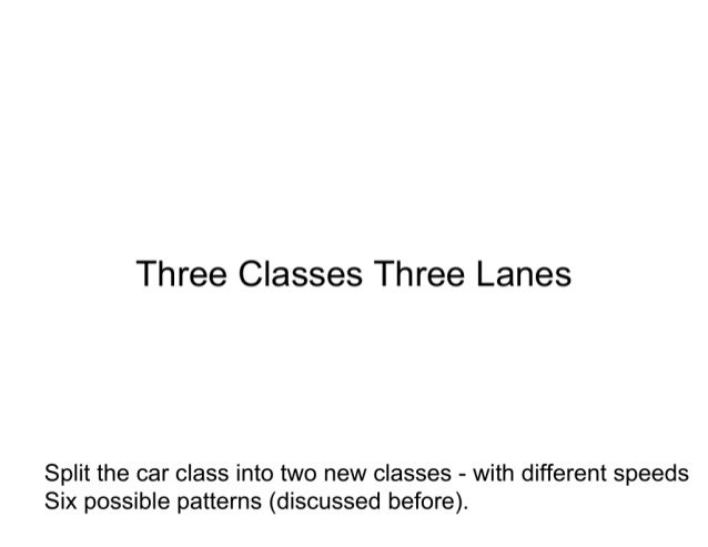 A new theory of lane selection on highways