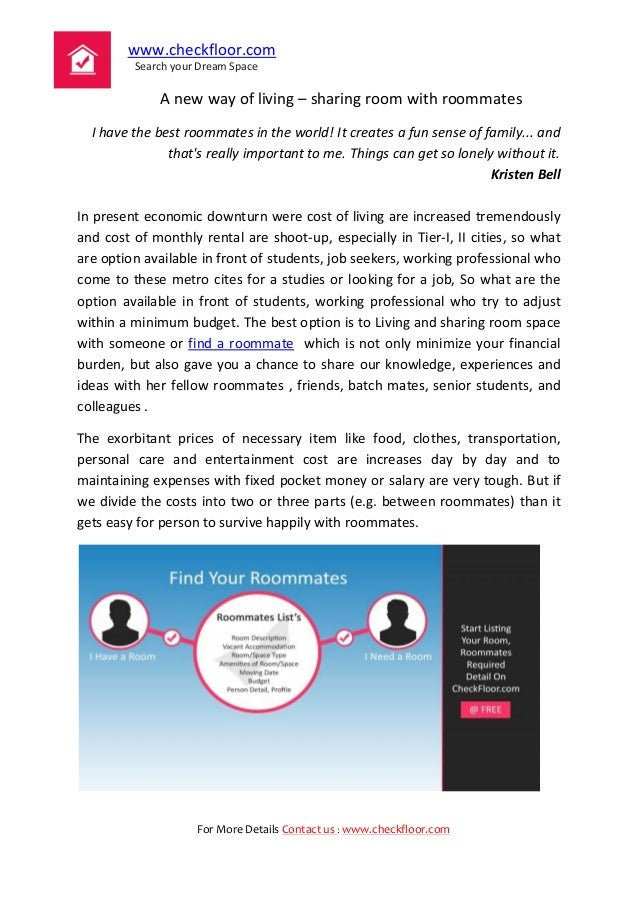 www.checkfloor.com Search your Dream Space For More Details Contact us : www.checkfloor.com A new way of living – sharing ...
