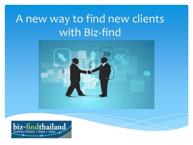 A new way to find new clients with Biz-find