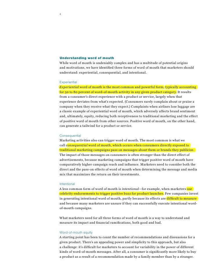 bughin j doogan j & vetvik oj 2010 a new way to measure word of mouth marketing