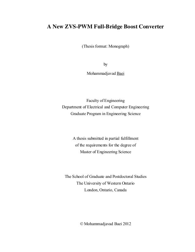 A New ZVS-PWM Full-Bridge Boost Converter                (Thesis format: Monograph)                              by       ...