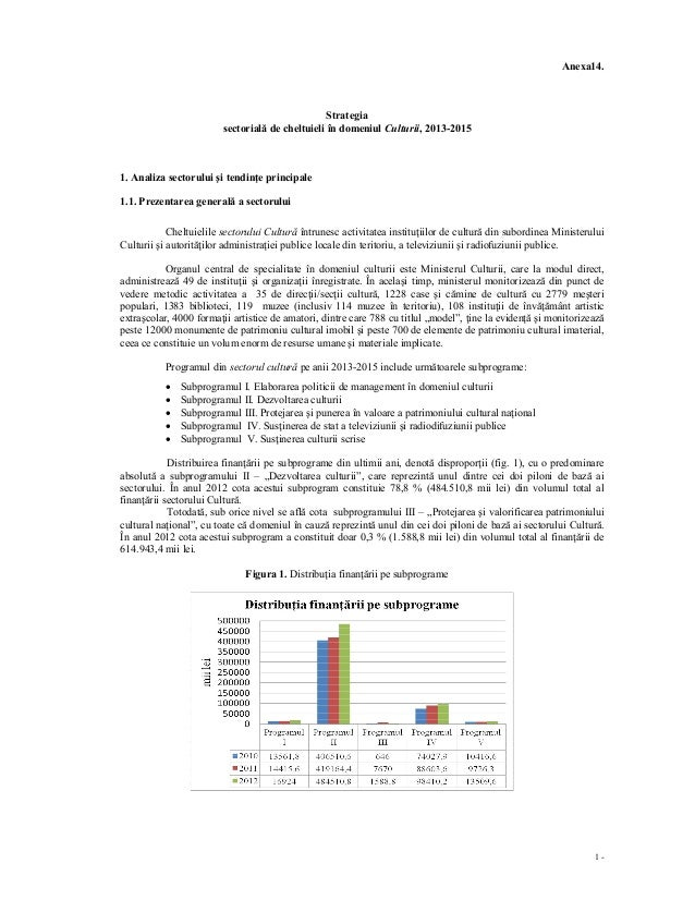 Anexa14.                                                  Strategia                         sectorială de cheltuieli în do...