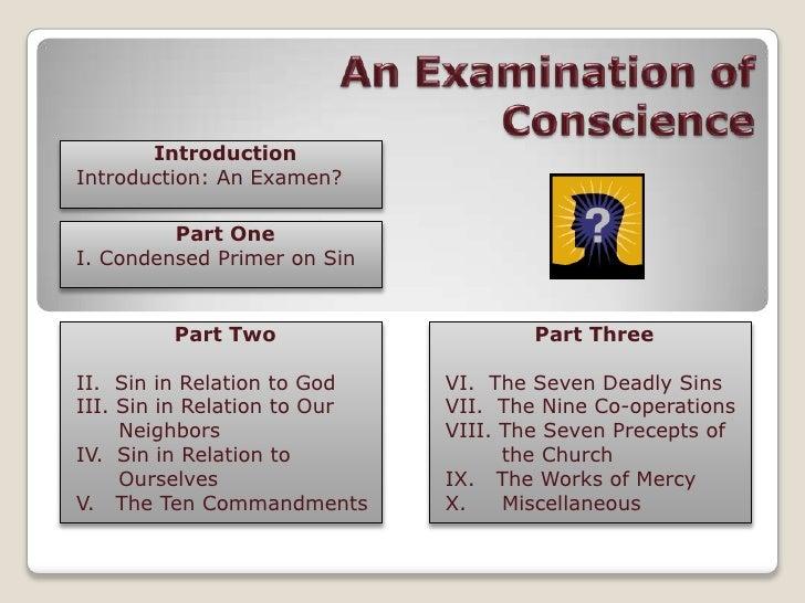An Examination of Conscience