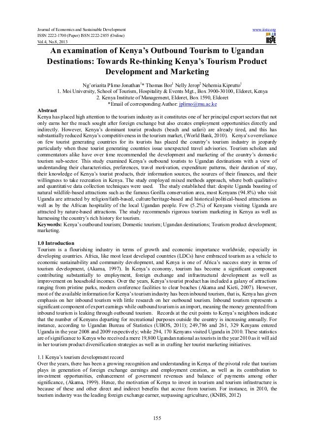 Journal of Economics and Sustainable Development www.iiste.orgISSN 2222-1700 (Paper) ISSN 2222-2855 (Online)Vol.4, No.8, 2...