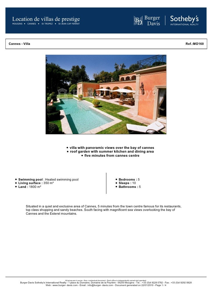 Cannes - Villa                                                                                                            ...