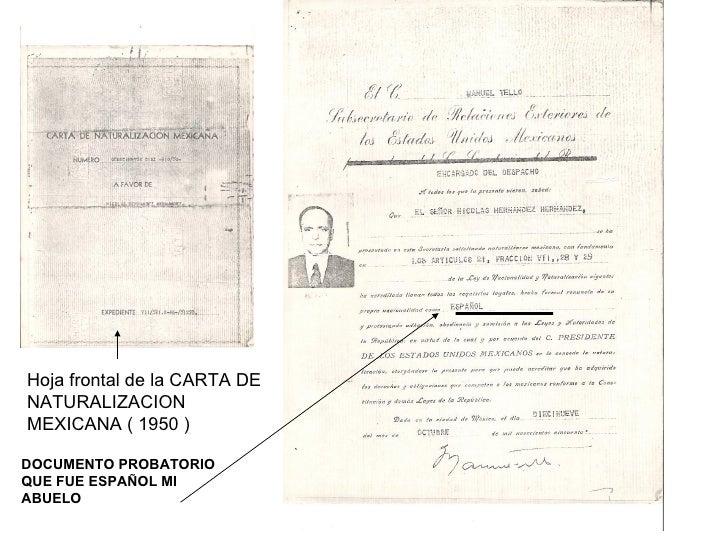 NACIONALIDAD ESPAÑOLA LEY DE LA MEMORIA HISTORICA ANEXO I