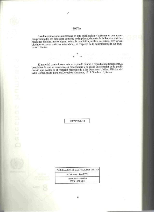 Anexo 01. Protocolo Estambul torturaS. Naciones Unidas 2005 Slide 3