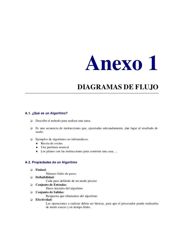 Anexo 1                                        DIAGRAMAS DE FLUJO   A.1. ¿Qué es un Algoritmo?         Describe el método ...
