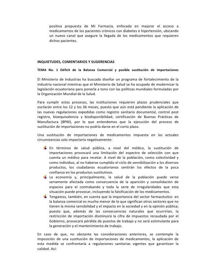 positiva propuesta de Mi Farmacia, enfocada en mejorar el acceso a        medicamentosdelospacientescrónico...