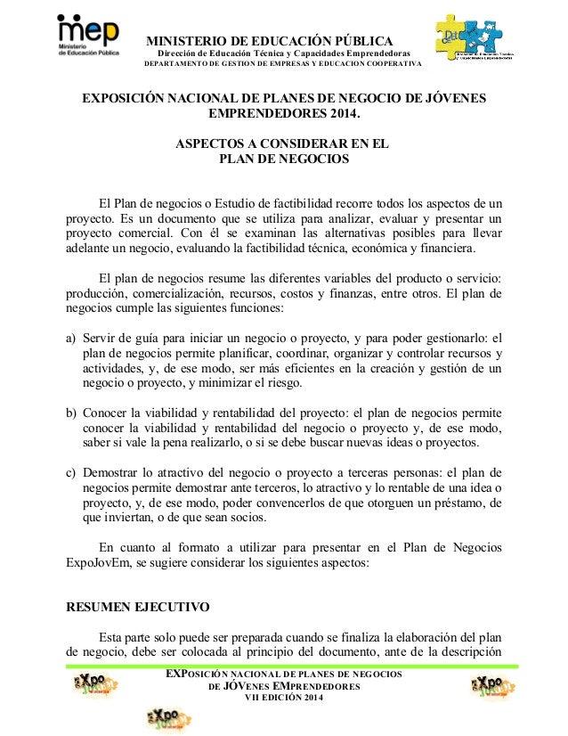 MINISTERIO DE EDUCACIÓN PÚBLICA Dirección de Educación Técnica y Capacidades Emprendedoras DEPARTAMENTO DE GESTION DE EMPR...