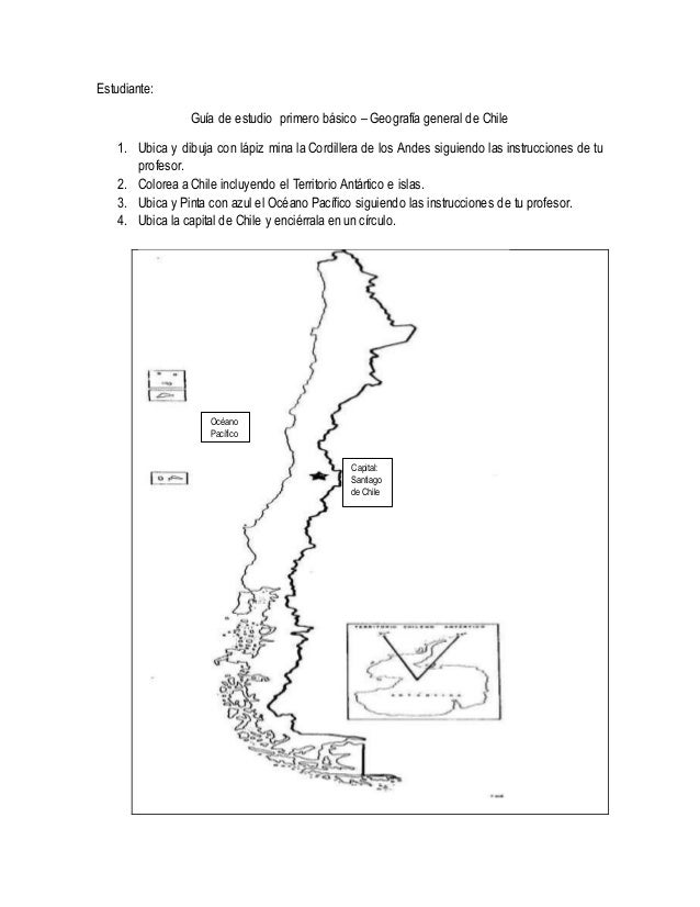 Mapa De Chile Primero Básico