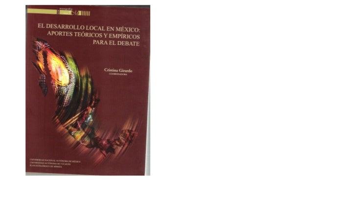 Desarrollo Local en México: aportes teóricos y empíricos para el debate