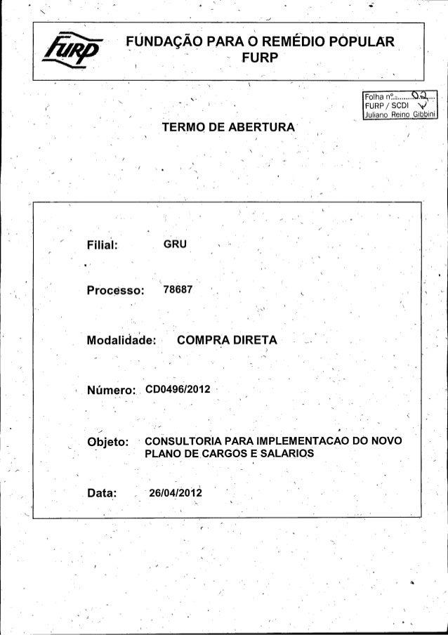 Folha n °.:........  s...  FURP / SCDI  Juliano Reino Gibbini  Filial:  GRU  Processo:  78687 `  Modalidade:  COMPRA DIRET...