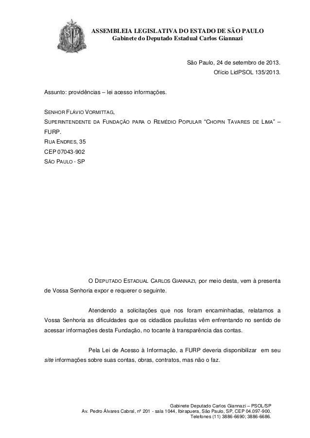 ASSEMBLEIA LEGISLATIVA DO ESTADO DE SÃO PAULO Gabinete do Deputado Estadual Carlos Giannazi  São Paulo, 24 de setembro de ...