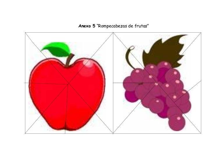 """Anexo 5 """"Rompecabezas de frutas"""""""