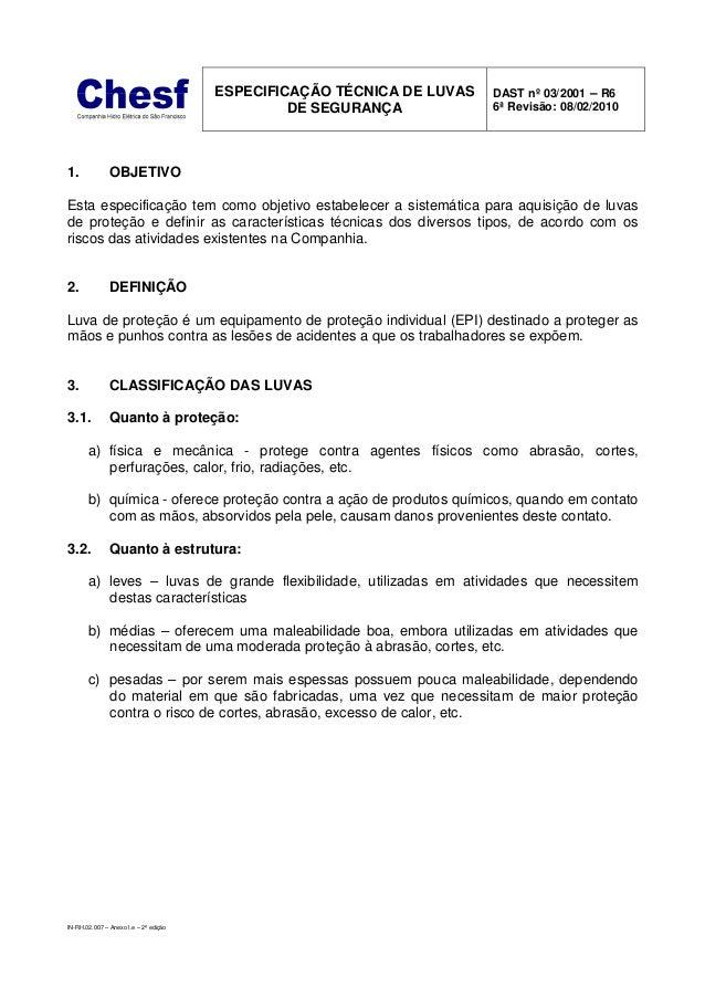 946485498d1c7 IN-RH.02.007 – Anexo I.e – 2ª edição ESPECIFICAÇÃO TÉCNICA DE LUVAS DE ...