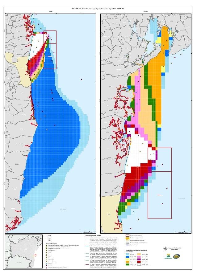 """Vulnerabilidade Ambiental para o poço Ogum - Concessão Exploratória BM-CAL 11 Verão 39°30'0""""W  39°0'0""""W Taperoá  Inverno 3..."""