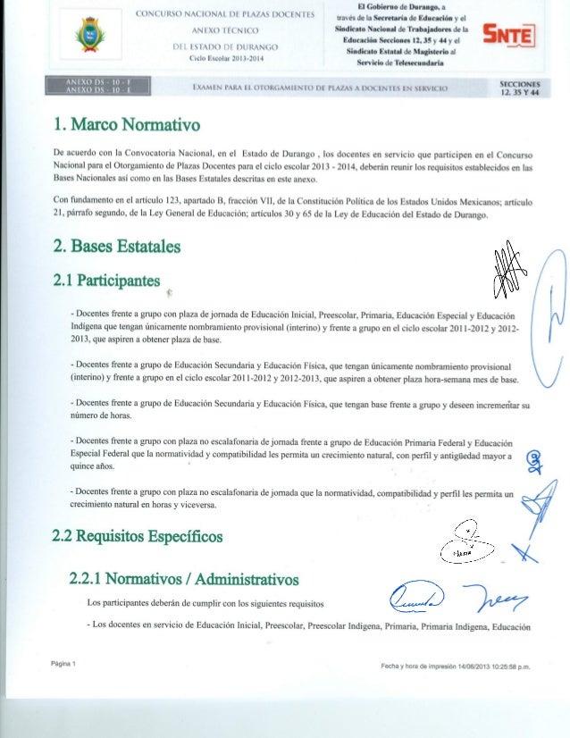 Anexo docentes en servicio Examen de Oposición 2013