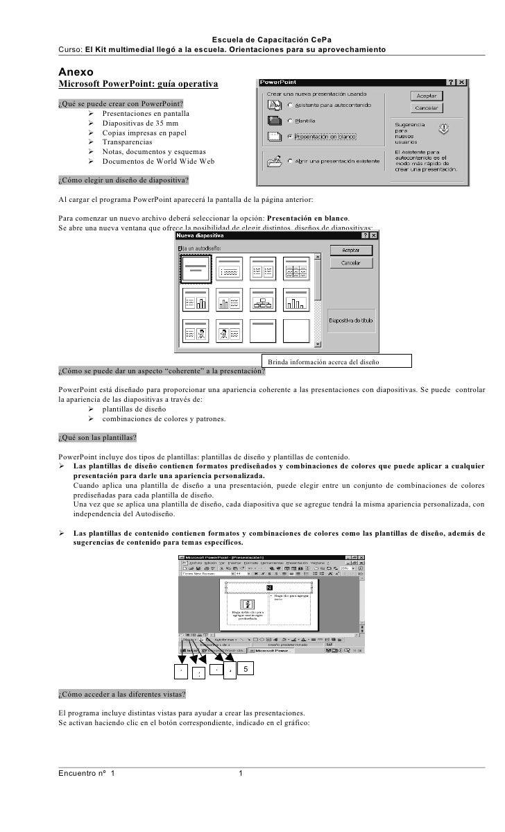 Escuela de Capacitación CePa Curso: El Kit multimedial llegó a la escuela. Orientaciones para su aprovechamiento  Anexo Mi...