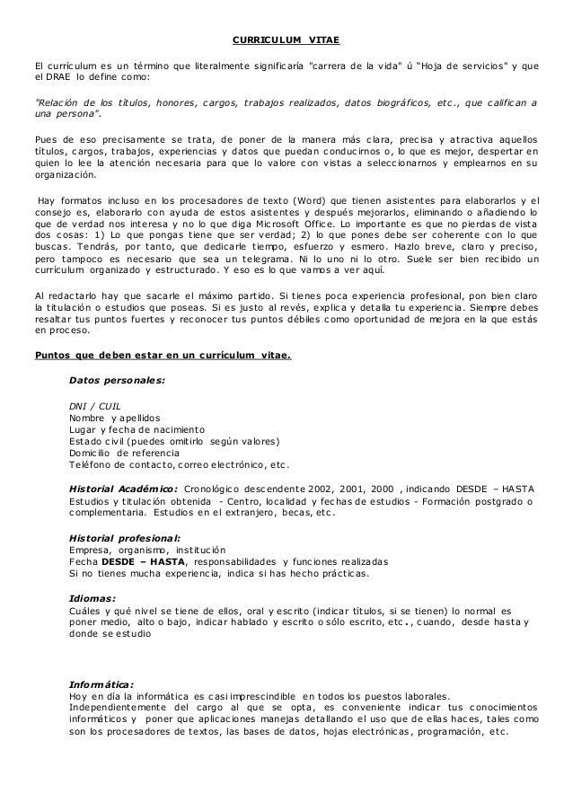 Anexo I El Curriculum