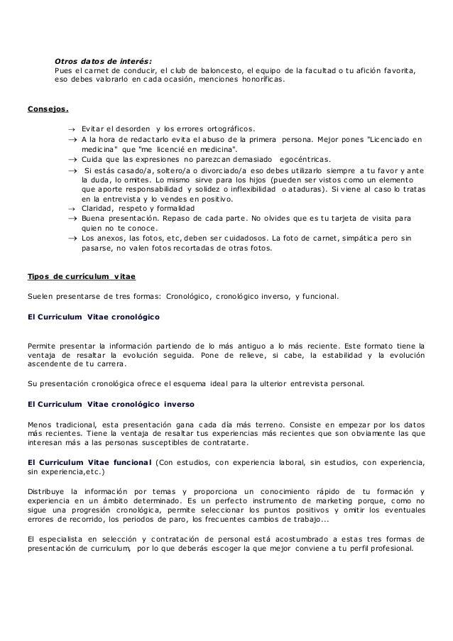 Anexo i el currículum