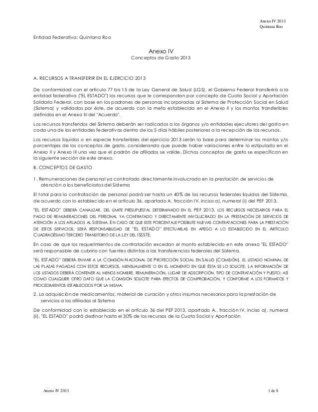 Anexo IV 2013                                                                                                       Quinta...
