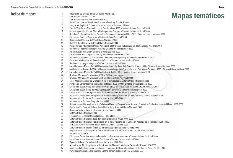 Programa Nacional de Desarrollo Urbano y Ordenación del Territorio 2001-2006                                              ...